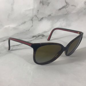 Gucci oversized red green glasses frames only